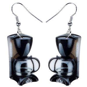 Coffee Pot Maker Acrylic Earrings
